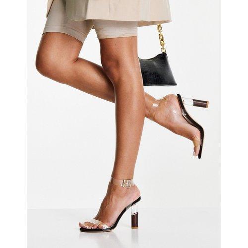Sandales à talon transparent - Truffle Collection - Modalova