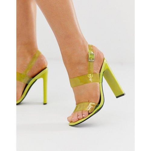 Sandales à talons avec brides transparentes - Fluo - Truffle Collection - Modalova