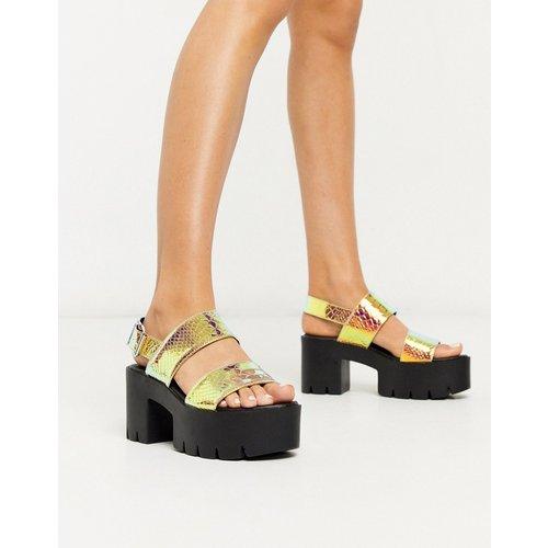 Sandales à talons avec plateformes chunky - Chatoyant - Truffle Collection - Modalova