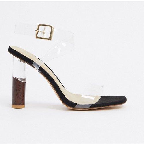 Sandales à talons transparents avec détail - Truffle Collection - Modalova
