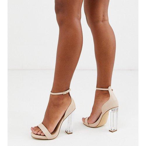 Sandales à talons transparents pointure large - Truffle Collection - Modalova