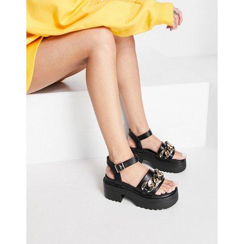 Sandales chunky avec détail chaîne - Truffle Collection - Modalova