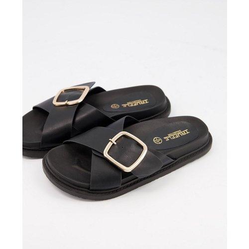 Sandales plates à boucle - Truffle Collection - Modalova