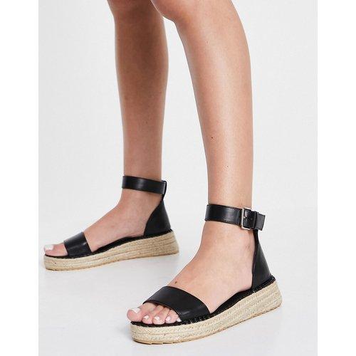 Sandales plates à semelle chunky style espadrilles - Truffle Collection - Modalova