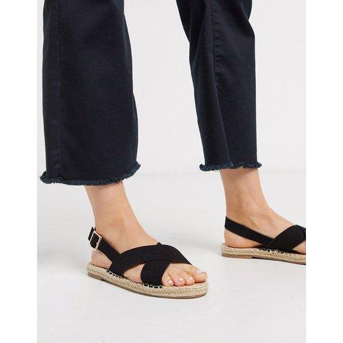 Sandales style espadrilles avec lanières croisées - Truffle Collection - Modalova