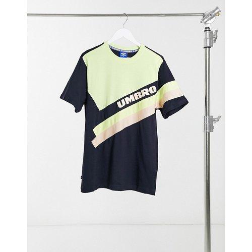 Sector - T-shirt ras de cou - Bleu marine et vert - Umbro - Modalova