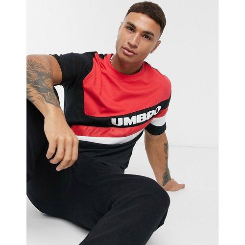 Sector - T-shirt ras du cou - Marine et rouge - Umbro - Modalova