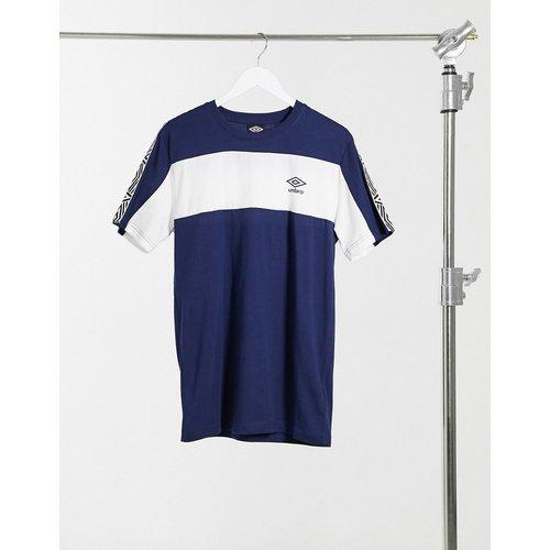 Surf - T-shirt col ras du cou à bandes latérales - Bleu marine - Umbro - Modalova