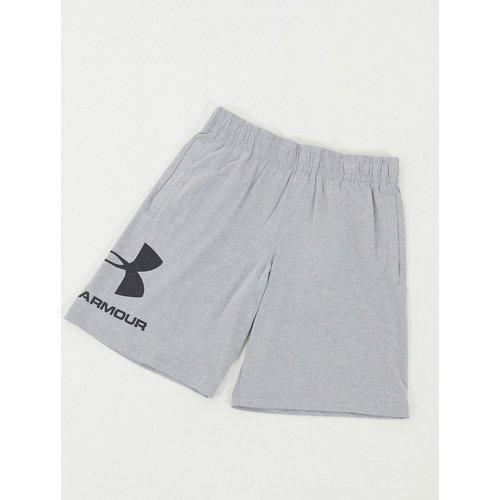 Short en coton à grand logo - Under Armour - Modalova