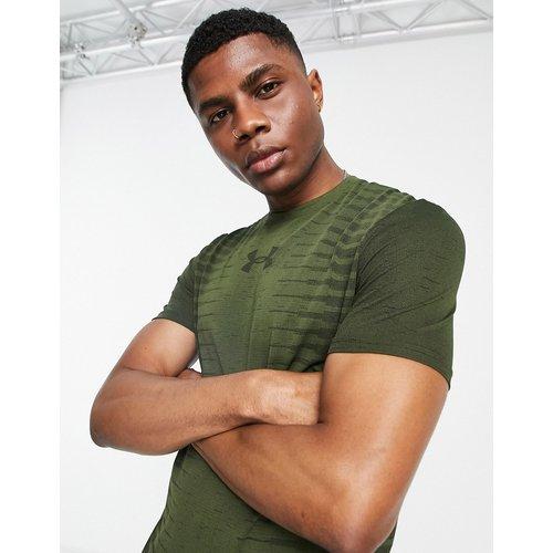 T-shirt sans coutures imprimé au dos - Kaki - Under Armour - Modalova