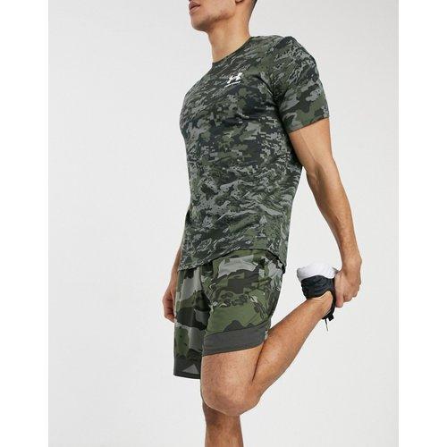 Training - Short extensible à imprimé camouflage - Kaki - Under Armour - Modalova