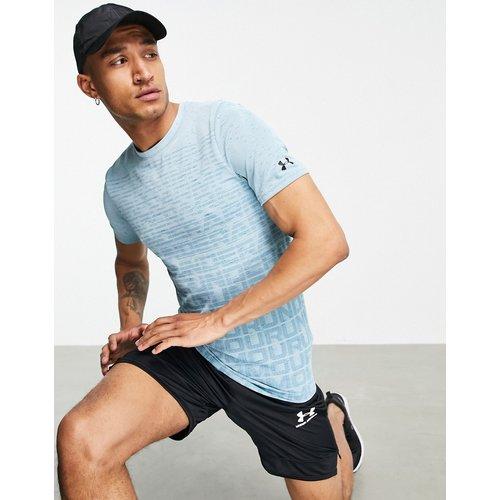 Training - T-shirt sans coutures à logo - Turquoise - Under Armour - Modalova