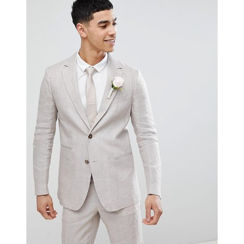 Wedding - Veste de costume classique en lin - Taupe - United Colors of Benetton - Modalova