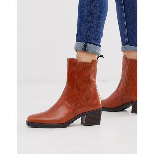 Simone - Bottines montantes style western à talons mi-hauts et bouts carrés - Cuir - Vagabond - Modalova