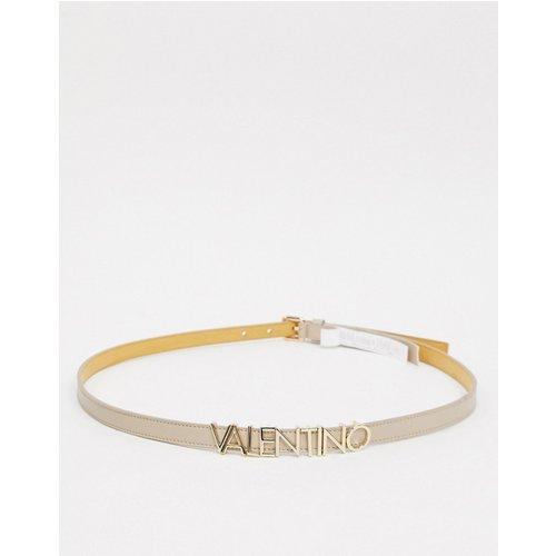 È Emma Winter - Ceinture fine à slogan - Taupe - Valentino by Mario Valentino - Modalova