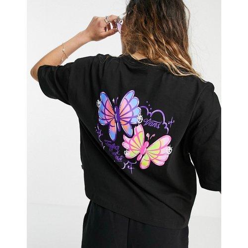 Flutter - T-shirt crop top à imprimé au dos - Vans - Modalova