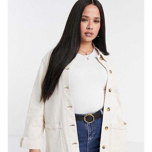 Veste en jean style chemise - Vero Moda Curve - Modalova
