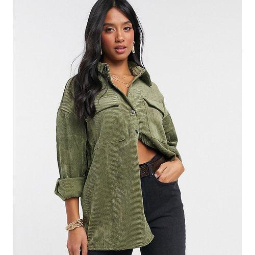 Veste-chemise en velours côtelé - Kaki - Vero Moda Petite - Modalova