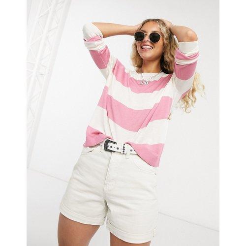 Sweat-shirt à rayures avec col rond - Vero Moda - Modalova