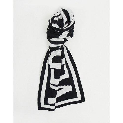 Écharpe à grand logo - et blanc - Versace Jeans Couture - Modalova
