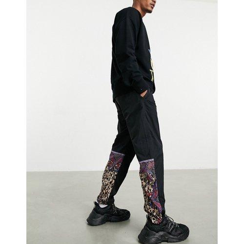 Jogger en nylon à empiècement motif cachemire - Versace Jeans Couture - Modalova