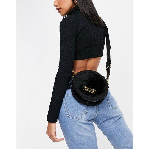 Petit sac bandoulière avec fausse fourrure - Versace Jeans Couture - Modalova