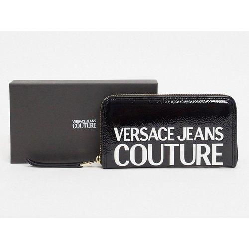 Portefeuille verni à logo - Versace Jeans Couture - Modalova