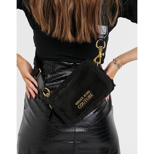 Sac bandoulière taille moyenne avec fausse fourrure - Versace Jeans Couture - Modalova