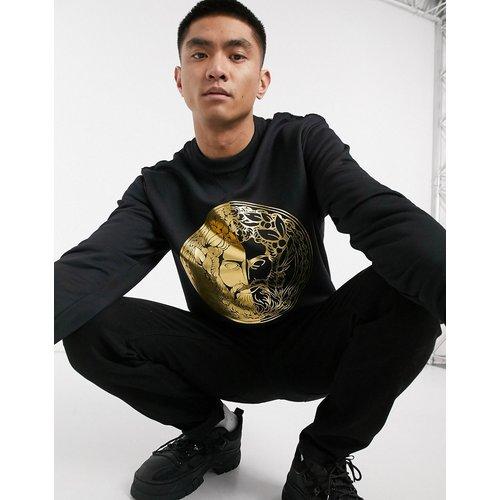Sweat-shirt avec grand logo tête - Versace Jeans Couture - Modalova
