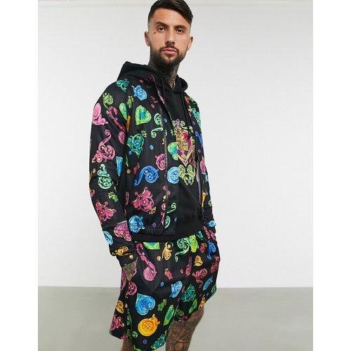 Veste de survêtement zippée avec motif baroque - Versace Jeans Couture - Modalova