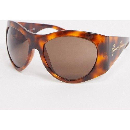 Lunettes de soleil rondes oversize - Écaille 0VE4392 - Versace - Modalova