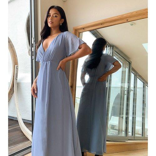 Robe longue cache-cœur- Bleu - Vila Petite - Modalova