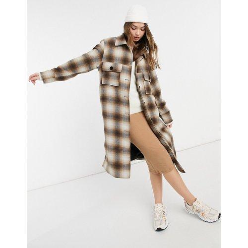 Manteau à carreaux avec poches - VIOLET ROMANCE - Modalova