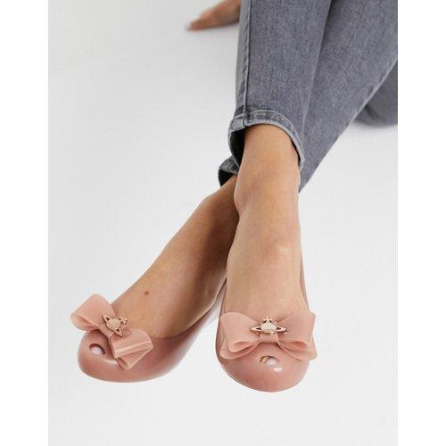 Chaussures plates avec nœud à logo - Beige - Vivienne Westwood for Melissa - Modalova