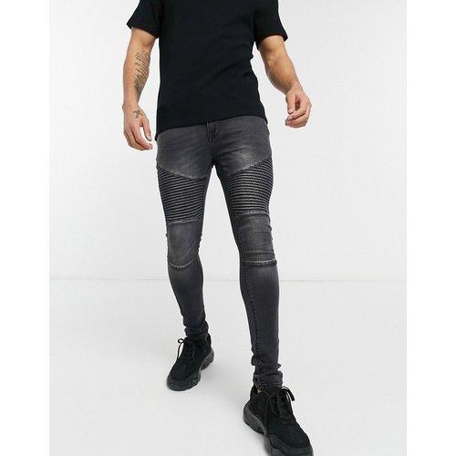 Voi - Hendon - Jean style motard - délavé - Voi Jeans - Modalova