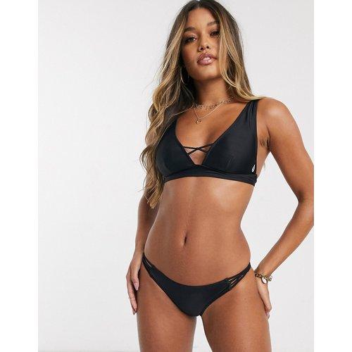 Simply Solid - Haut de bikini triangle en polyester recyclé avec croisillons - Volcom - Modalova