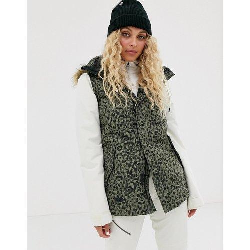 - Snow Fawn - Veste isolante à motif léopard - Kaki - Volcom - Modalova