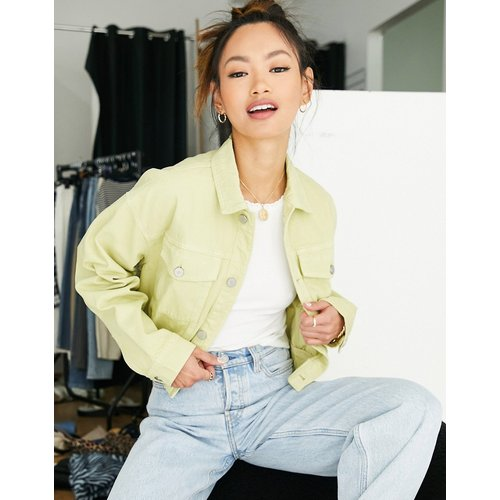 Nina - Veste en jean courte et oversize (ensemble) - citron - Waven - Modalova