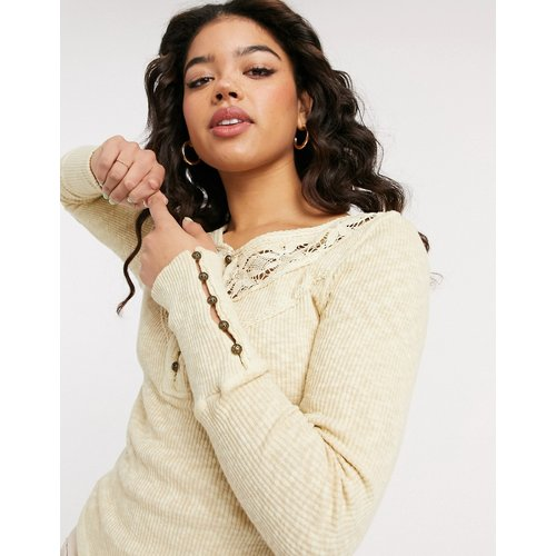 Top col tunisien - Crème - We The Free by Free People - Modalova