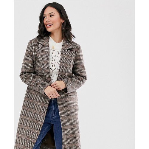 Manteau long en laine à carreaux - Wednesday's Girl - Modalova