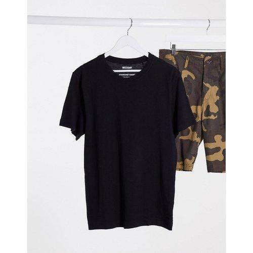Weekday - T-shirt basique - Noir - Weekday - Modalova