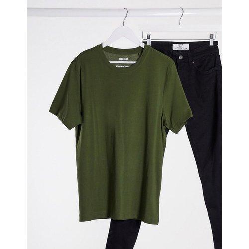 Weekday - T-shirt basique -Vert - Weekday - Modalova