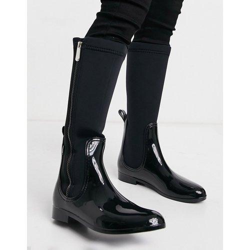 Bottes plates hauteur genoux à fermeture éclair sur le côté - XTI - Modalova