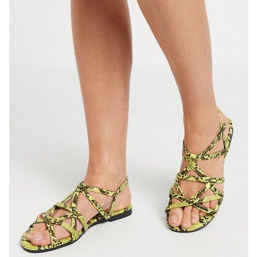 Sandales plates multicolores imprimé serpent - XTI - Modalova