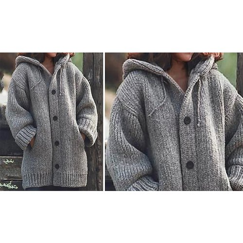 Save 70% - Chunky Knitwear Cardigan - 9 Colours & Sizes 6-18