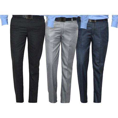 Save 61% - Pack of 3 Men's Premium Suit Trousers - 4 Colour Options & 6 Sizes