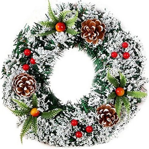 Save 83% - Christmas Faux Foliage & Berries Wreath - 3 Sizes