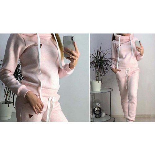 Women's Casual Hooded Tracksuit Set - 3 Colours & 6 Sizes