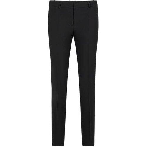 Pantalon court Regular Fit en laine vierge italienne stretch - Boss - Modalova