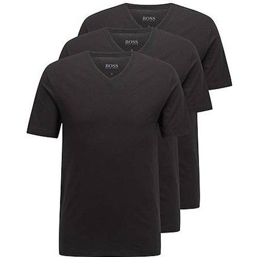 Lot de trois t-shirts en coton à colV - Boss - Modalova
